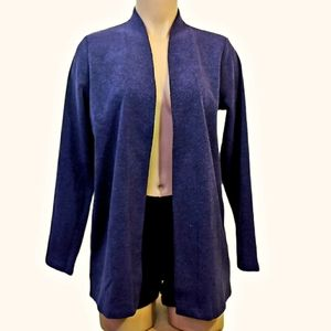 Northern reflections violet open cardigan Small